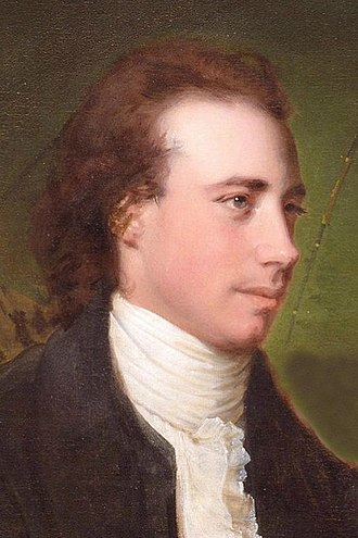 Thomas Gisborne - Detail from 1786 Joseph Wright painting