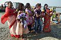 Devotees - Durga Idol Immersion Ceremony - Baja Kadamtala Ghat - Kolkata 2012-10-24 1534.JPG