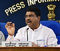 Dharmendra Pradhan addressing a press conference on four years achievements of the Ministry of Petroleum & Natural Gas and Ministry of Skill Development & Entrepreneurship, in New Delhi.JPG
