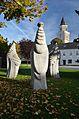 Die drei Nornen by Jesper Neergaard and parish church.jpg