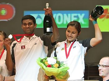 English: V Diju & Jwala Gutta