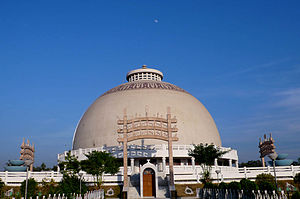 Decline of Buddhism in India - Deekshabhoomi Stupa in Nagpur, a replica of the Sanchi stupa,  where Ambedkar became a Buddhist.