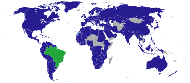 Diplomatic missions of Brazil Diplomatic missions in Brazil.PNG