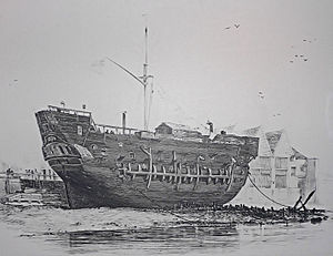 Prison ship - Image: Discovery at Deptford