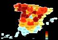 Distribución de la población de más de 65 años en España (2005).png
