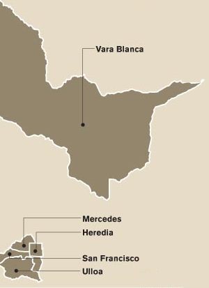Heredia (canton) - Districts of Heredia canton