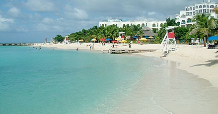Doctor's Cave Beach Club is a popular destination in Montego Bay. Doctors-Cave-Beach.jpg