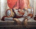 Domenico ghirlandaio, Santi Girolamo, Barbara e Antonio Abate, 1471-72, barbara 05.JPG