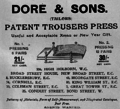 Dore & Sons trousers press.png
