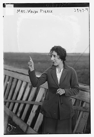 Waldo Peirce - The first Mrs. Waldo Peirce, the aviatrix Dorothy Rice in 1916