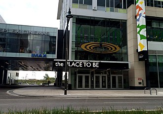 Downtown Markham, Ontario - The Cineplex new theatre just built.