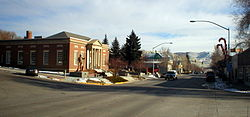 Downtown Green River, looking east at Flaming Gorge Way.
