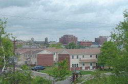 A view of Downtown Hazleton from the south