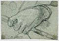Drawing, Study- A left hand carrying a stick, 1725–1775 (CH 18118757).jpg