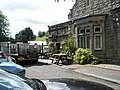 Dray unloading at The Railwayman's Arms - geograph.org.uk - 1454239.jpg