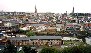 Drogheda from the south. In the foreground is ...