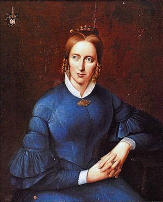 Annette von Droste-Hülshoff - portrait by Johann Joseph Sprick
