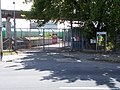 Dunai Waterworks Co., gate, boom barrier, 2020 Százhalombatta.jpg
