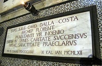 Elia Dalla Costa - Tomb in the Florentine cathedral.