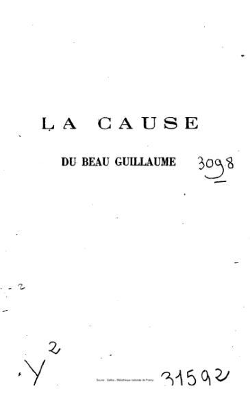File:Duranty - La Cause du beau Guillaume.djvu