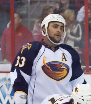 Dustin Byfuglien - Byfuglien while a member of the Atlanta Thrashers.