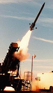 Extended Range Interceptor (ERINT) launch from White Sands Missile Range.