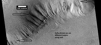 Tempe Terra - Image: ESP 025771variousgullies