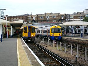 North London line - Old vs new: a Class 313 and its replacement, a Class 378 ''Capitalstar'' at Richmond