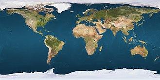 Mount Jumbo - Satellite view of Earth's mountain ranges.