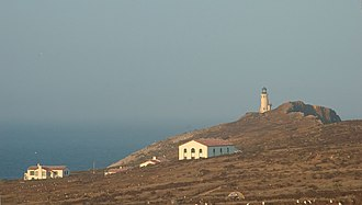 Anacapa Island Light - Image: East Anacapa Structures at Sunset