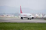 Eastar Jet B737-86J HL8264 Departing from Taipei Songshan Airport 20150101a.jpg