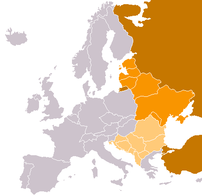 Eastern Europe according to CIA World Factbook...