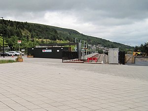 Ebbw Vale Town railway station - Image: Ebbw Vale Town railway station, Blaenau Gwent geograph.org.uk 4613990