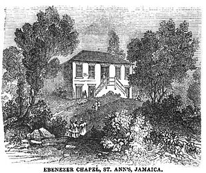 Saint Ann Parish - Image: Ebenezer Chapel, St. Ann's, Jamaica (September 1851, VIII, p.102) Copy