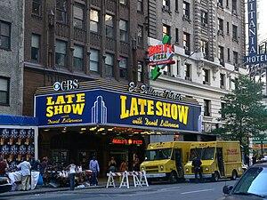 エド・サリヴァン・シアター 『レイト・ショー』は2001年 デイヴィッド・レターマン