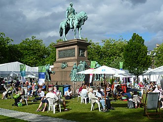 Edinburgh International Book Festival - Charlotte Square during the Edinburgh International Book Festival, 2013