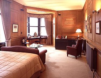 The Scotsman Hotel - Image of one of the old Editor offices, now a luxury bedroom at The Scotsman Hotel