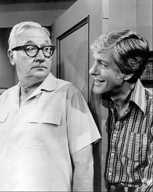 Edward Andrews - Andrews (left) and Dick Van Dyke (1973)
