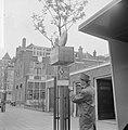 Eerste bordjes dienstregeling tram te Rotterdam geplaatst hoek Avenue Concordia , Bestanddeelnr 917-7009.jpg
