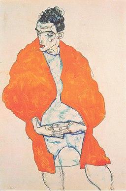 Egon Schiele - Selbstbildnis - 1914