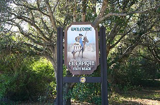 El Capitán State Beach - Image: El capitán welcome sign