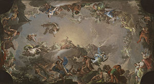 Francisco Bayeu y Subías - Sketch for Olympus: Battle of the Titans (1764)