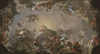 Francisco Bayeu y Subías - Sketch for Olympus: Battle of the Titans (1764)