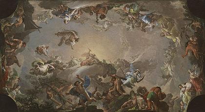 Resultado de imagen de el olimpo batalla con los gigantes