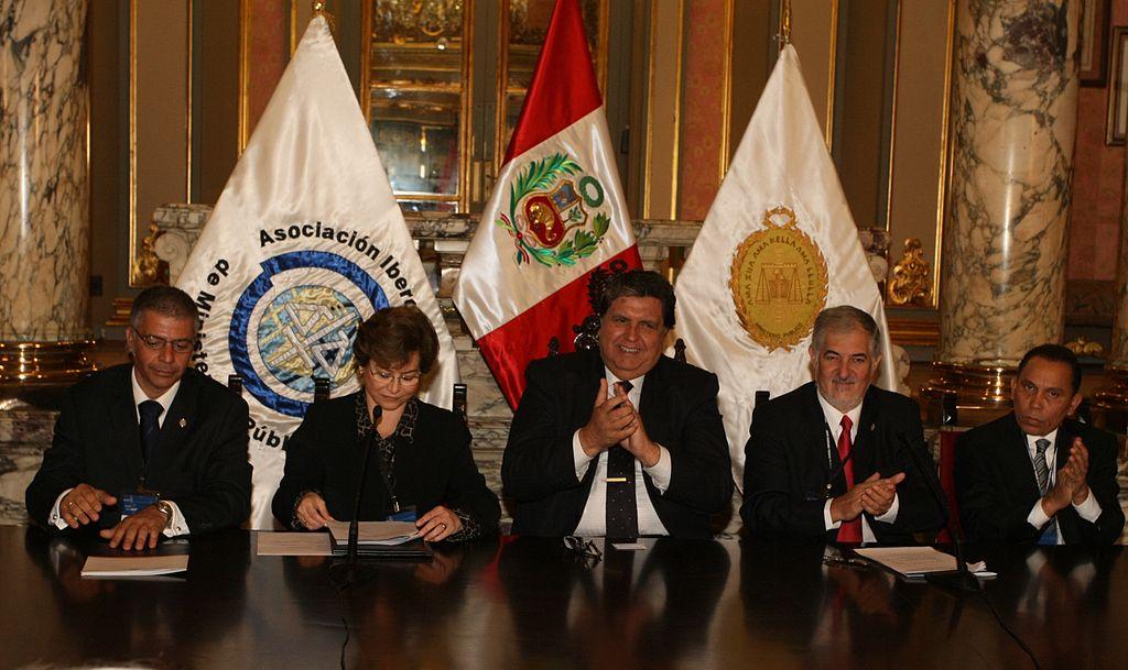 El Presidente de Perú, Alan Garcia, en la inauguración de la Asamblea general de la AIAMP en Lima..JPG