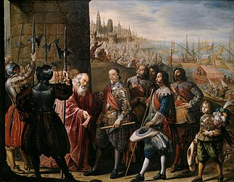 Relief of Genoa - Relief of Genoa by the Marquis of Santa Cruz by Antonio de Pereda. Museo del Prado.