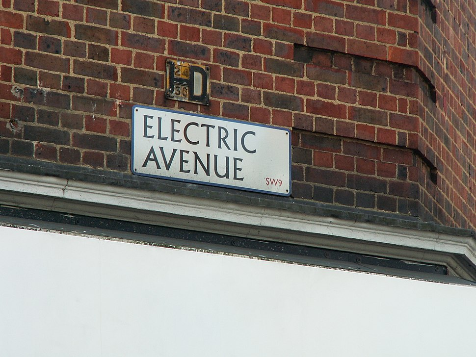 Electric Avenue Street Sign
