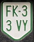 Electric motorcycle license plate Austria (Feldkirch).jpg