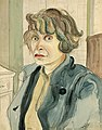 Elfriede Lohse-Wächtler Im blauen Kittel - Selbstporträt IV 1929.jpg