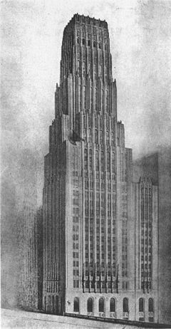 Eliel Saarinen Tribune Tower design 1922.jpg